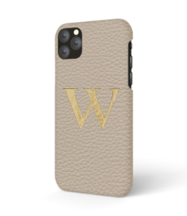 iPhone Premium Shrink Leather Case (Beige)