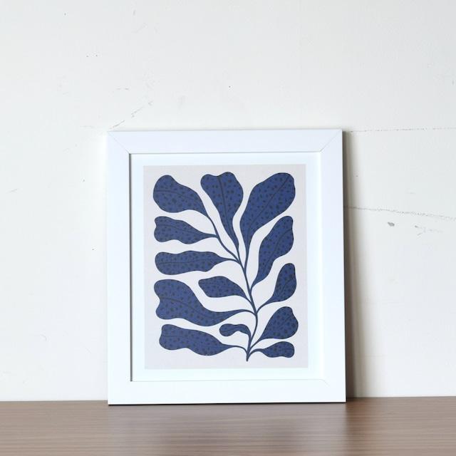 【即納】フレーム入りアートプリント  BLUE PLANT 2