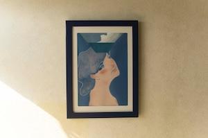 絵画作品【送料無料】タイトル「夏がまだ呼んでる」額装済み すぐに飾れる 購入後すぐに飾れる paintings, fine art