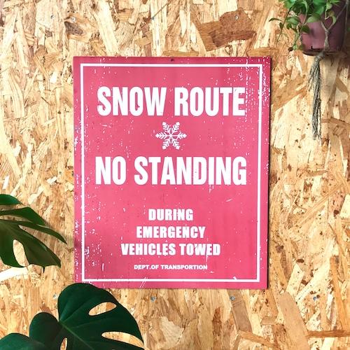 トラフィックサインボード 「SNOW ROUTE」