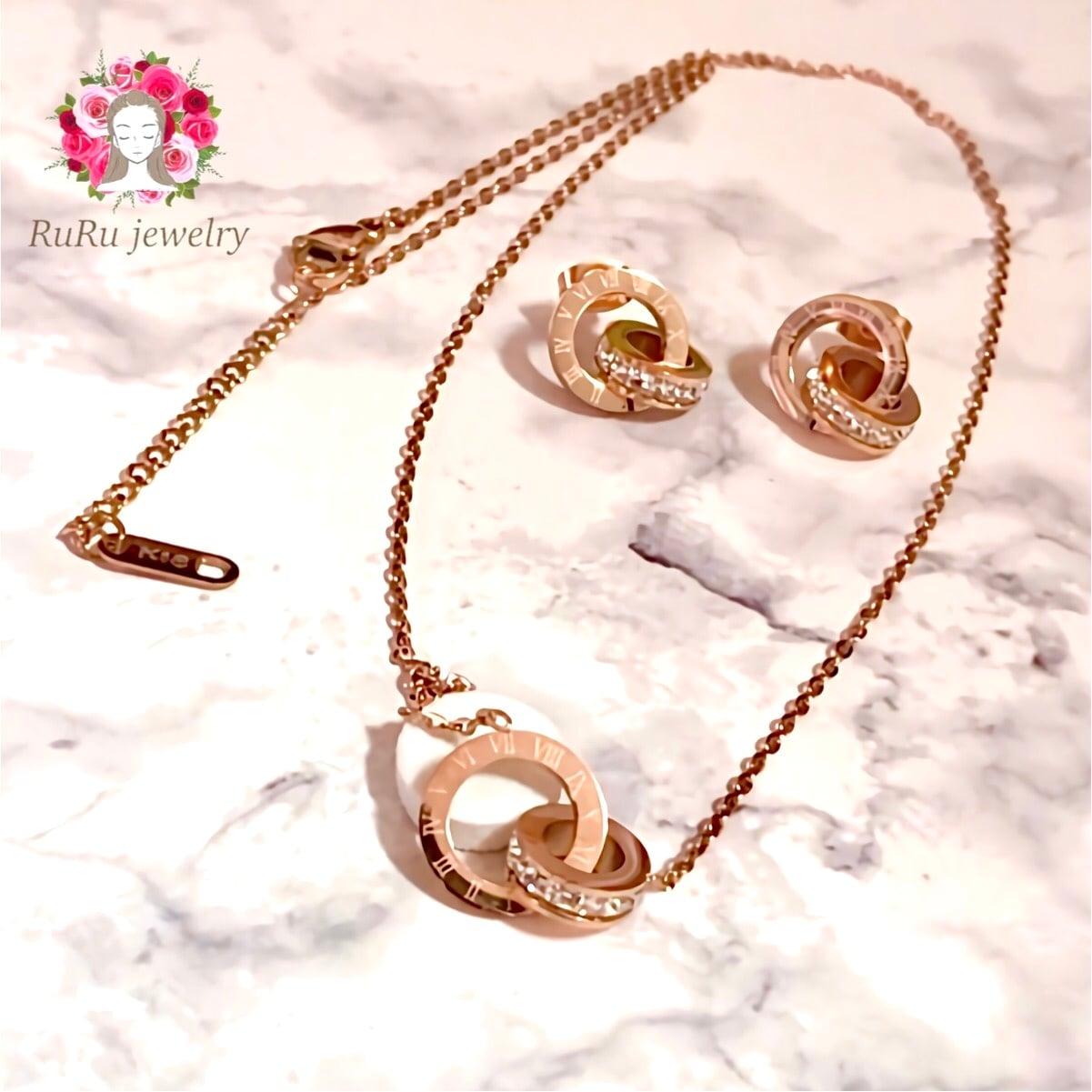 vintage necklace pierce / 316L stainless