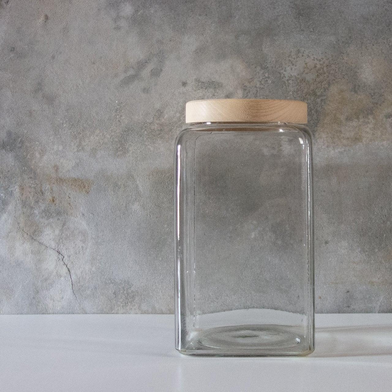 木蓋の駄菓子瓶