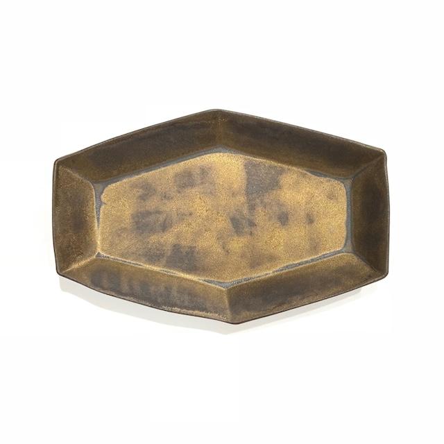 金泥  六角長皿