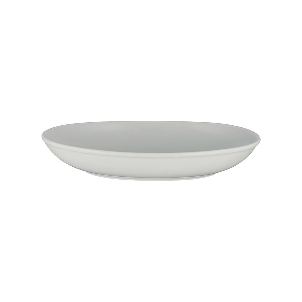 西海陶器 波佐見焼 「コモン」 オーバルボウル 皿 230mm グレー 18306