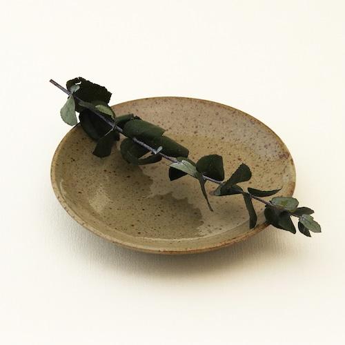 常陸窯いそべ陶苑 プレート Φ15 灰釉(RF) 笠間焼 Kasama Pottery