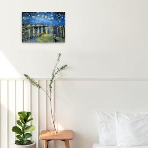 素敵なアートパネル ローヌ川星月夜 フィンセント・ファン・ゴッホ レプリカパネルA4サイズ