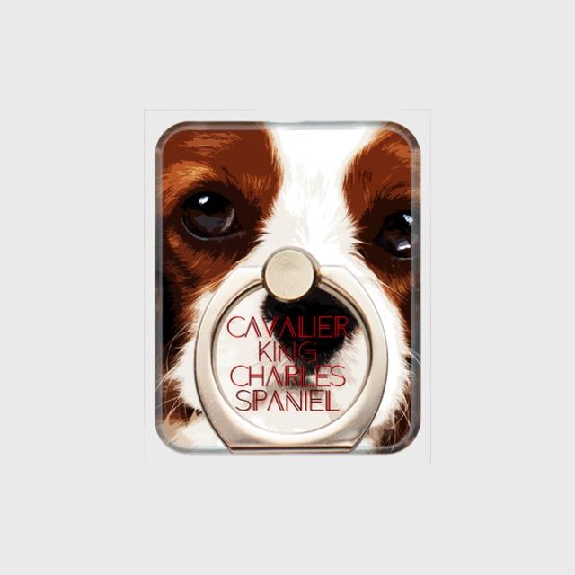 キャバリアキングチャールズスパニエル おしゃれな犬スマホリング【IMPACT -color- 】