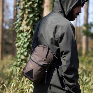 【ANONYM CRAFTSMAN DESIGN】3H SHOULDER BAG(CHARCOAL)  透湿防水ショルダーポーチ アノニム クラフツマン デザイン 日本製 MADE IN JAPAN