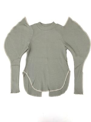 【21AW】GRIS ( グリ )Elephant Sleeve Shirt[S/M/L]Sage Green長袖カットソー