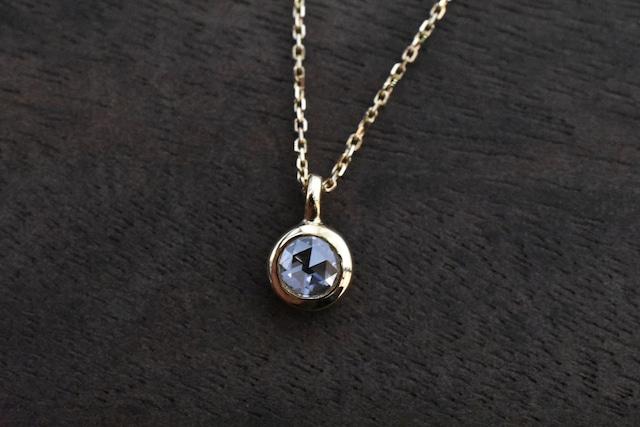 ローズカットダイヤモンド ネックレス   0.177ct / F / VS2  /  K18YG