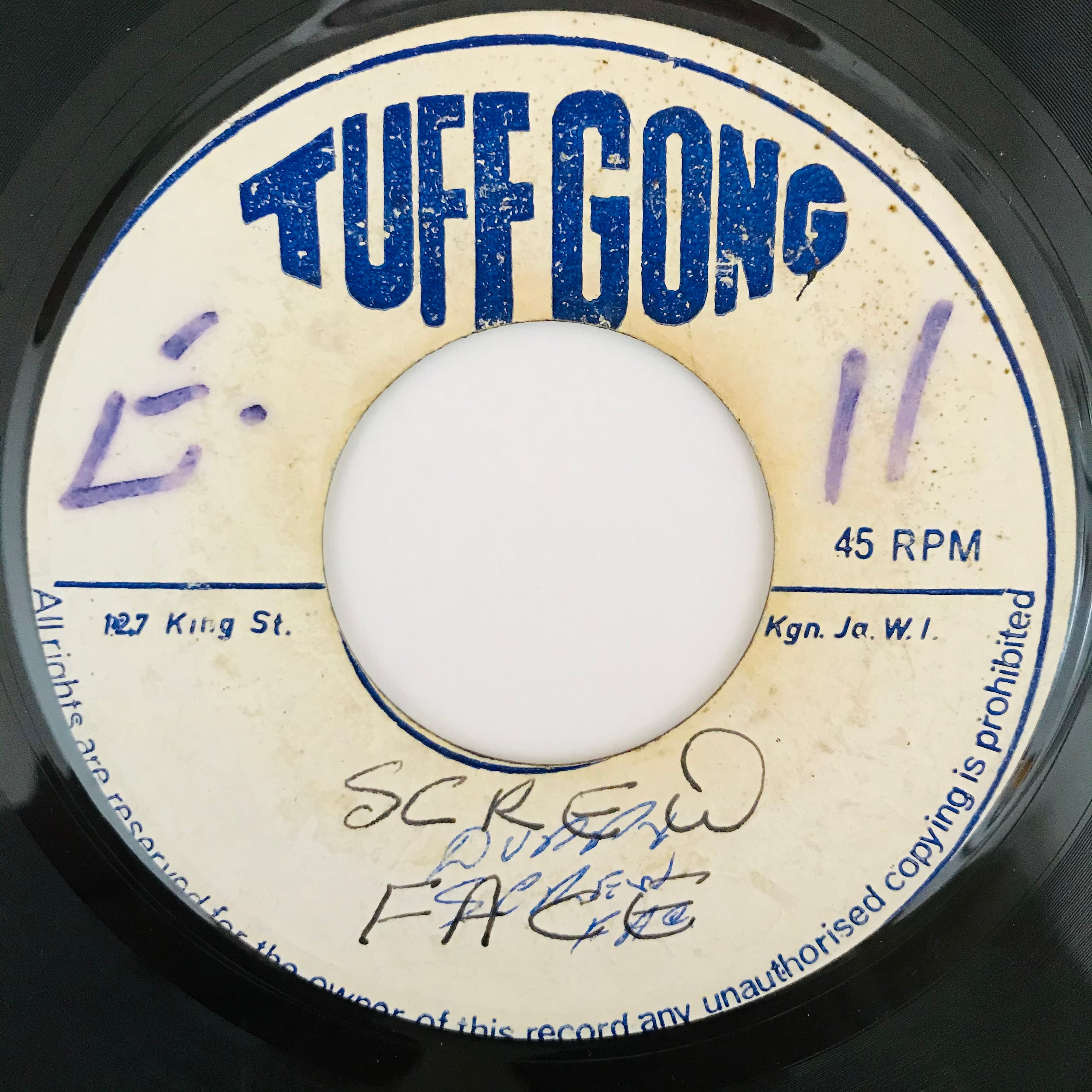 Bob Marley And The Wailers - Screw Face【7-11003】