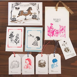 【残りわずか】活版印刷お楽しみカードセット