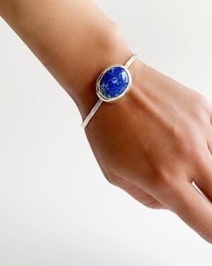 lapis lazuli silver bangle
