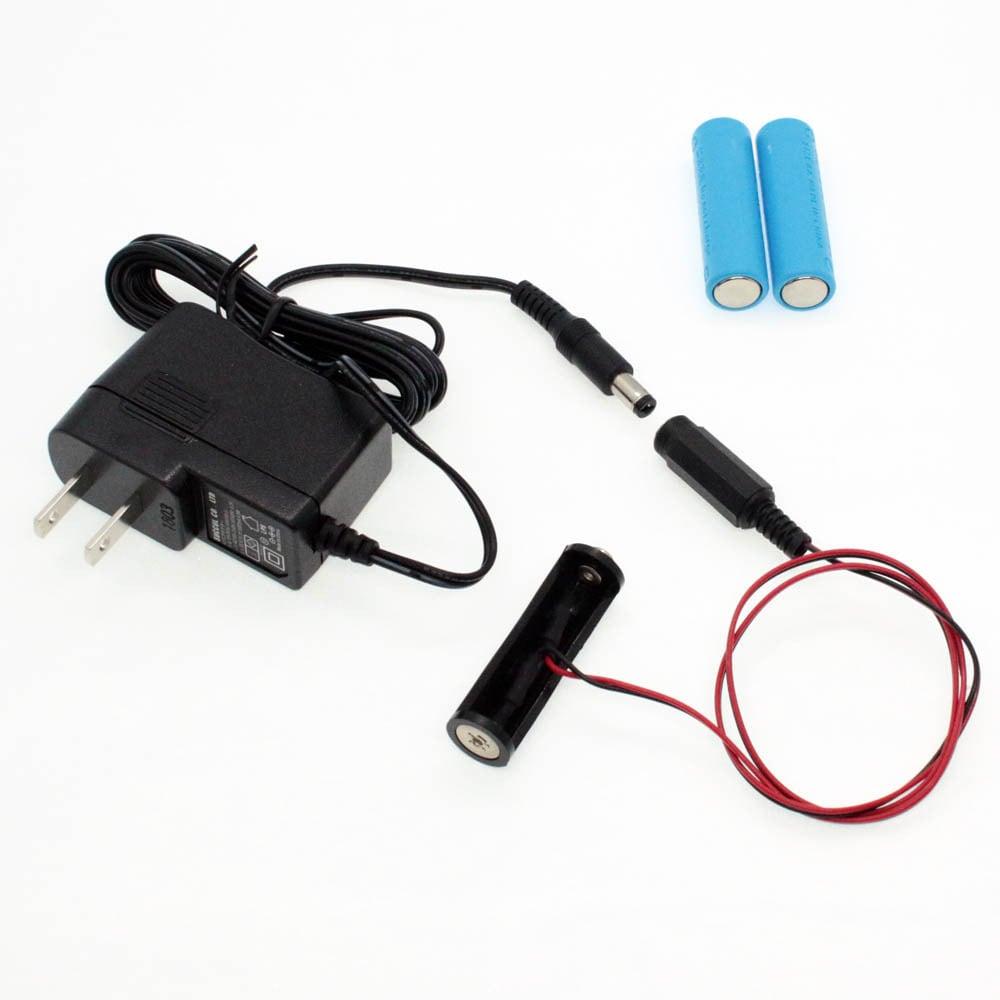 単3電池×3本用 ACアダプター接続ケーブル 50cmセット品 [AABAT-3-50cm-SET]