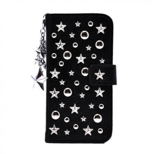 ENLA BY ENCHANTED.LA NOTEBOOKTYPE LEATHER STARS CASE DREAMY STARS & STAR CHARMS