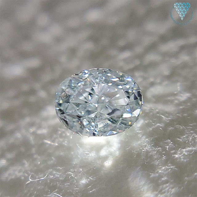 0.249 ct  FANCY LIGHT BLUE GREEN VS1 CGL OVAL 天然 ブルー グリーン ダイヤモンド