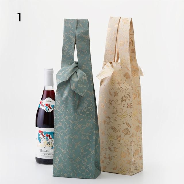 ワインバッグ 金襴・緞子2枚セット  Wine Bag