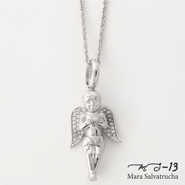 【MS-13】K18GP エンジェル チャーム M(ホワイトゴールド)
