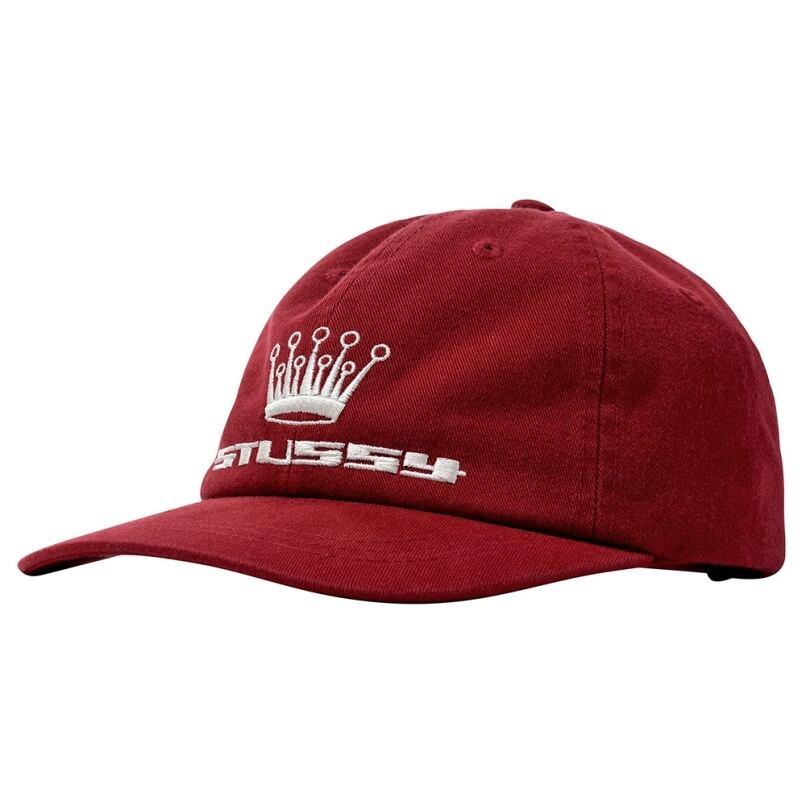 STUSSY 93 SLICK CROWN LOW PRO CAP CARDINAL