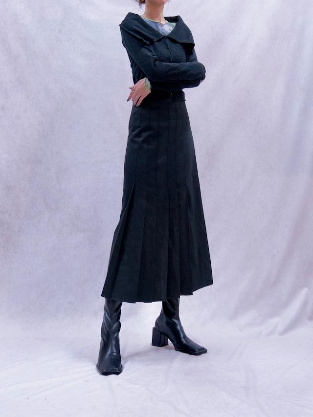 【WOMENS - 2 size】WIDE PLEATS SKIRT / 2colors