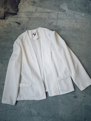 made in usa vintage white jacket