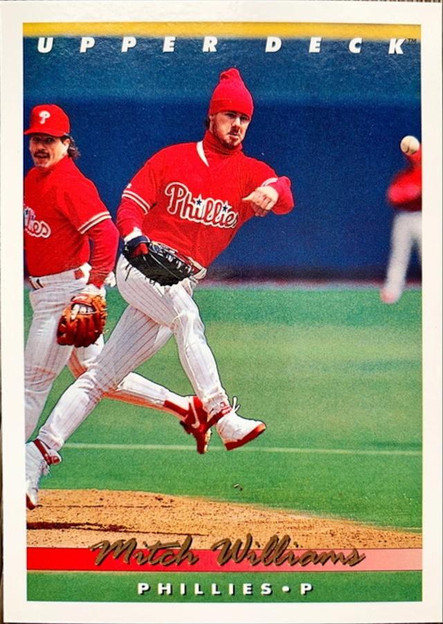 MLBカード 93UPPERDECK Mitch Williams #113 PHILLIES