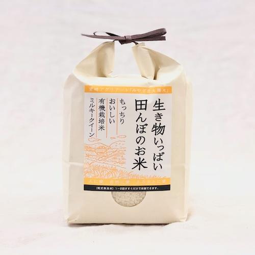 《新米》精米2kg  有機ミルキークイーン