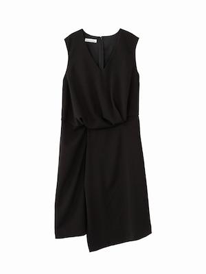 Drape dress  / black / S16DR05