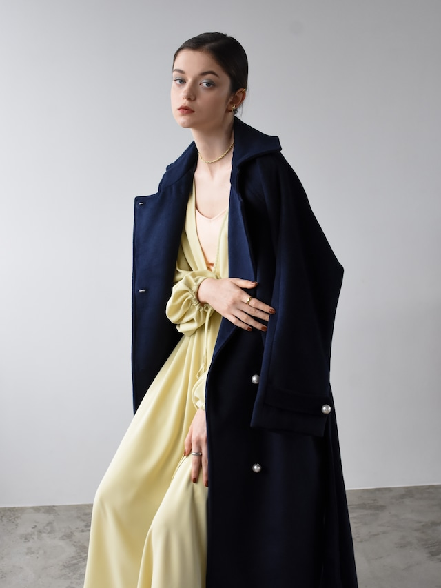 pearl button coat(navy)