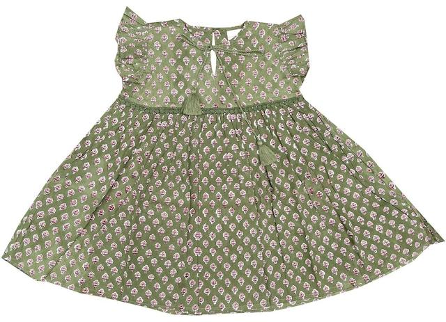 Alakai / Little Prairie Dress ~ Olive