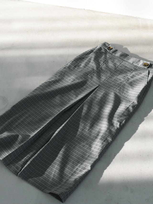front tuck skirt(gray check)