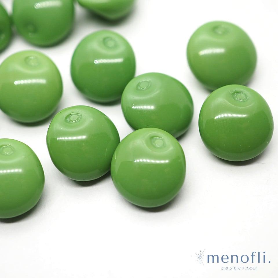 緑 フルーツ・野菜デザイン ヴィンテージボタン チェコガラスボタン BP0707 20201201