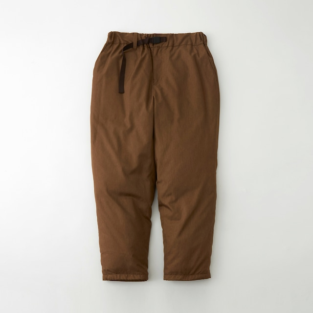 WM × TAION TWILLED DOWN PANTS - BROWN