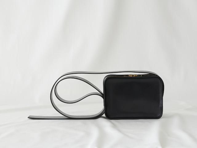 【LIMITED】Leather Shoulder Mini Book Bag / BLACK
