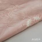丹後ちりめん 深い桜色に絞りの帯揚げ