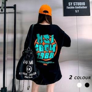 【トップス】韓国の人気爆発半袖ラウンドネックプルオーバーTシャツ41261282