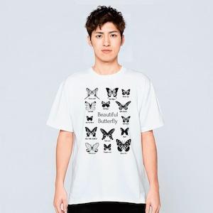 蝶々 昆虫採集 Tシャツ メンズ レディース おしゃれ かわいい 白 夏 プレゼント 大きいサイズ 綿100% 160 S M L XL