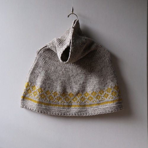 ASEEDONCLOUD/アシードンクラウド Wreath knit poncho  #212804 grayish beige