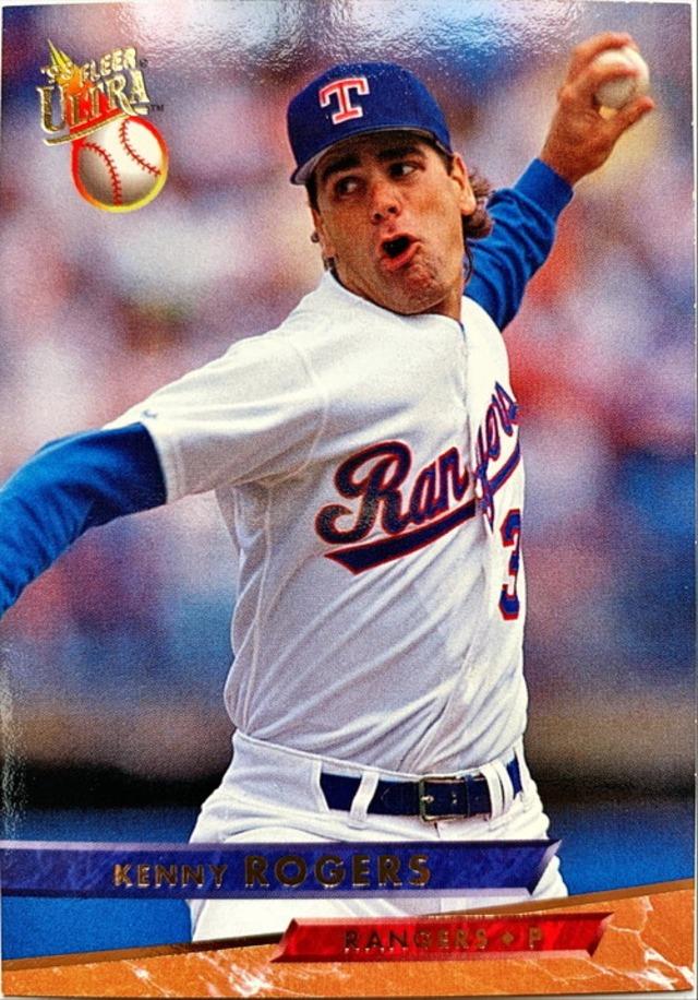 MLBカード 93FLEER Kenny Rogers #285 RANGERS