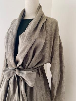 モン族刺繍入りローブコート