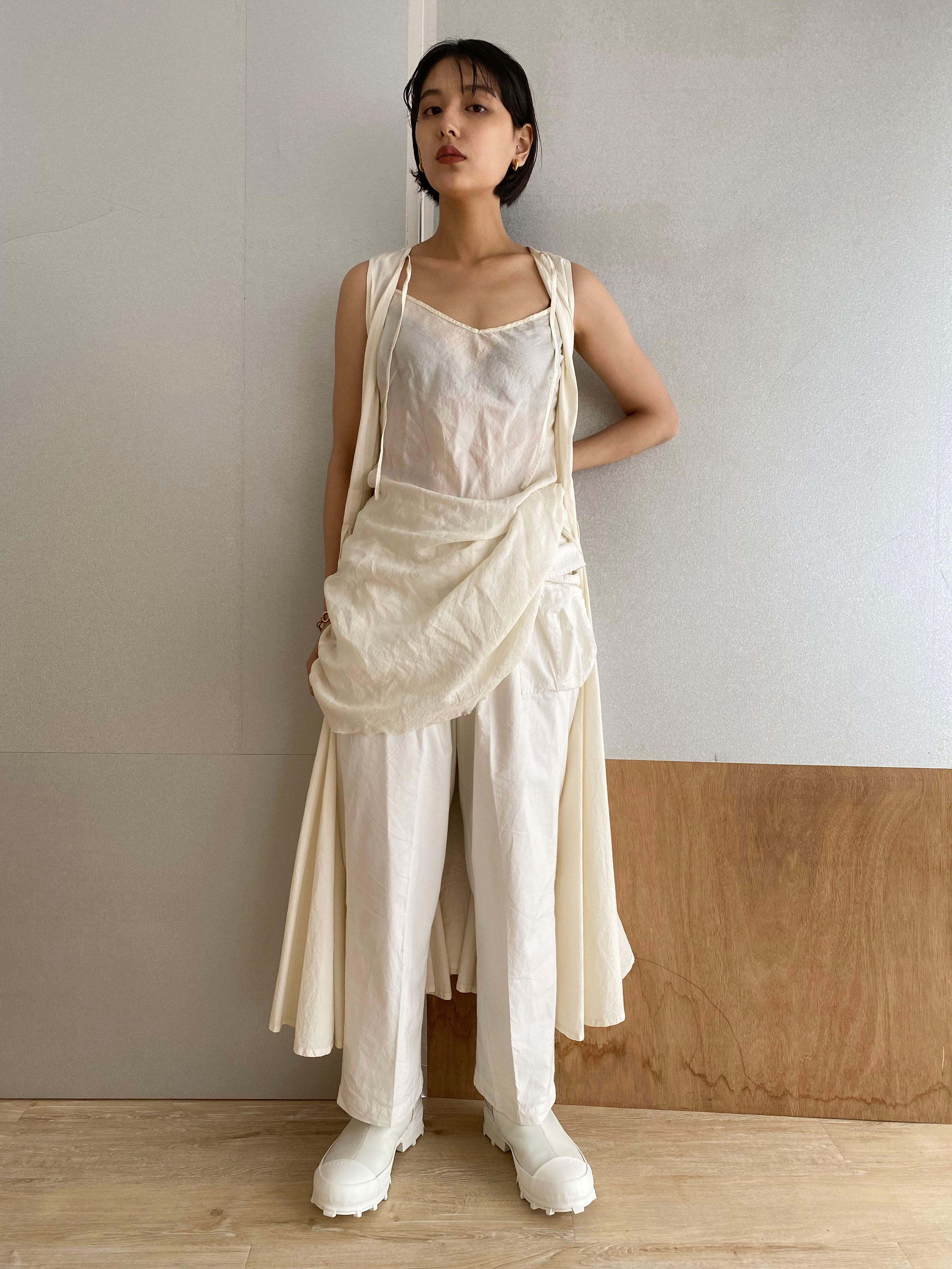 "Camisole ""white"" silk cotton"