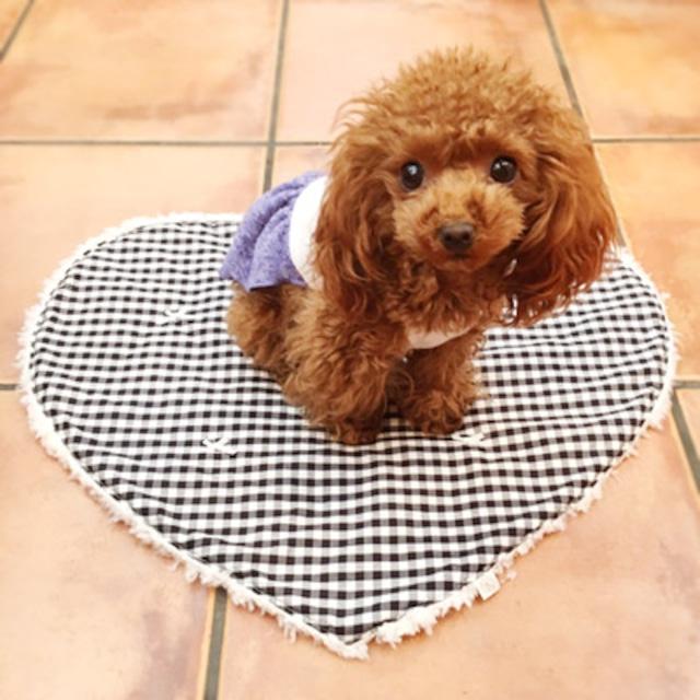 【即納】犬の生活 ハートカフェマット ギンガムチェック