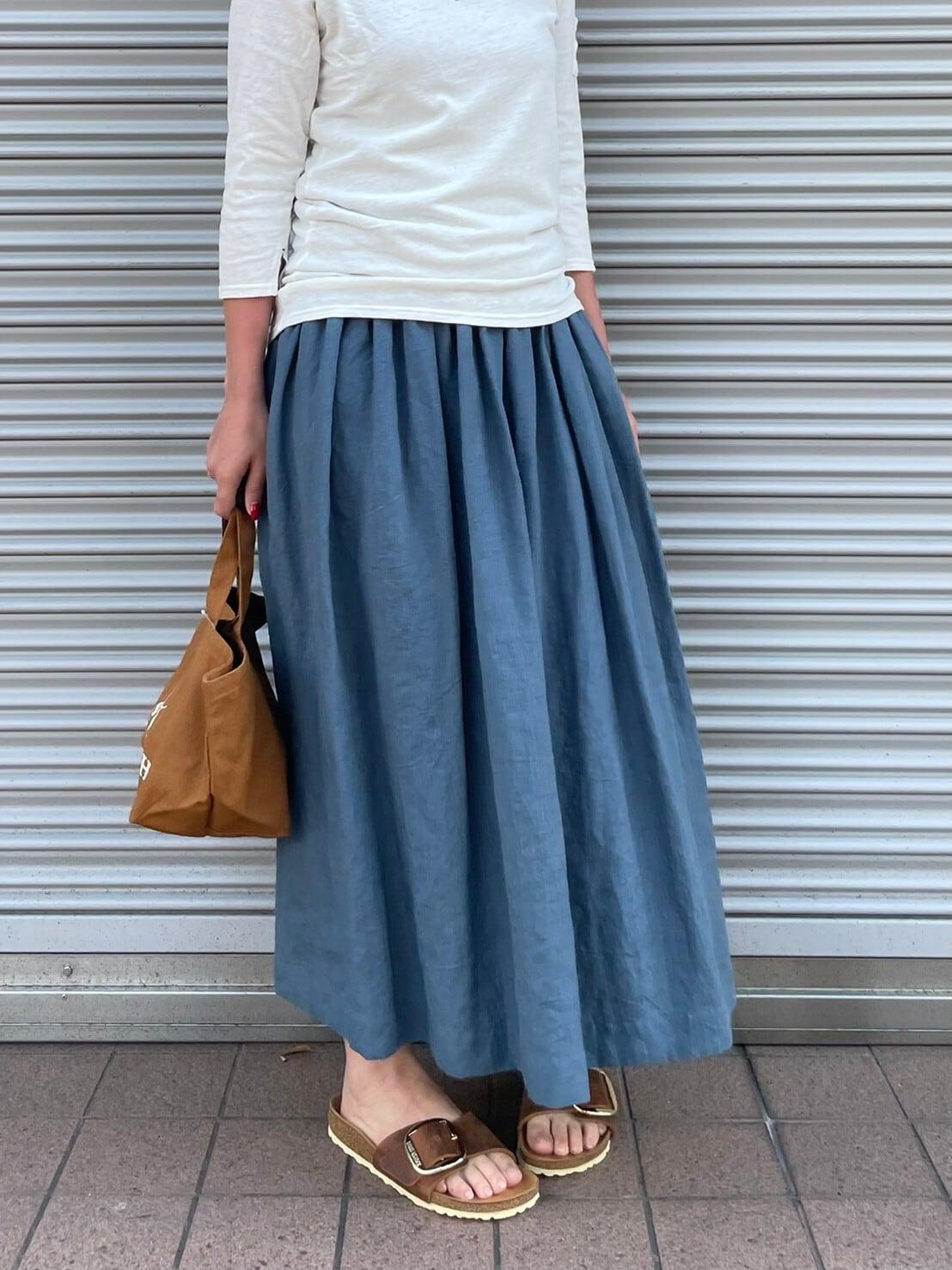 【atelier sou】リネンギャザースカート