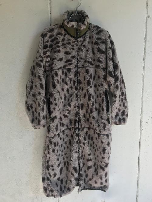 FILLTHEBILL  leopard fleece long coat