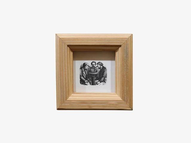 写真L版正方形クリア 国産杉のくっつく額縁