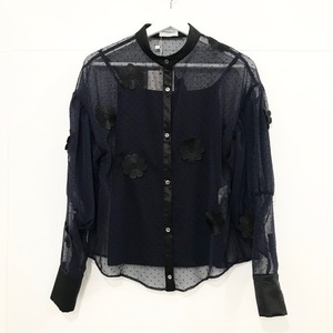 EAUSEENON ドットシャツ Black