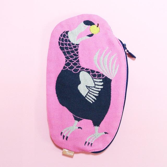 《鳥/ドードー》 ガーゼポーチ  dodo 絶滅種 morita MiW ペンケース 筆箱 ピンク