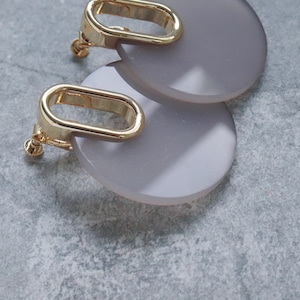 EARRINGS || 【通常商品】 GLASS CIRCLE EARRINGS GRAY || 1 EARRINGS || GRAY || FDF151