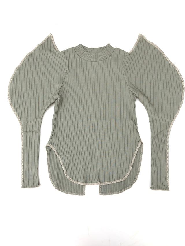 【21AW】GRIS ( グリ )Elephant Sleeve Shirt[XL]Sage Green 長袖カットソー