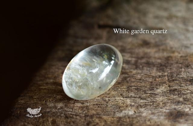 白銀の風★ ホワイトガーデンクォーツ  ルース  gar339